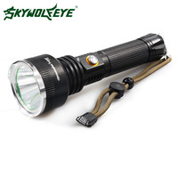 Skywolfeye مضيا 2000 التجويف 3 طرق xm-l t6 مضيا التركيز مصباح الشعلة 18650 بطارية aaa 26650 قابلة التخييم