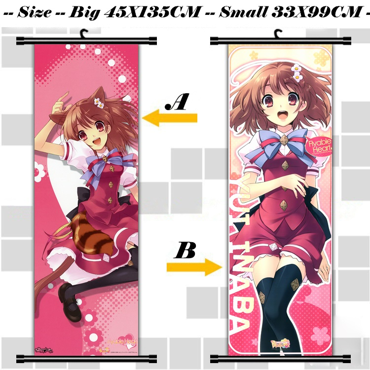 45X135CM kuuchuu yousai flyable heart loli cameltoe art cartoon anime wall picture mural scroll cloth canvas