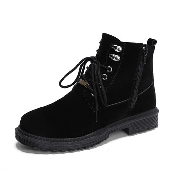39-44 Winter Shoes Men 2020 Classic All Black Martin Boots Men Waterproof Lace Up Casual Shoes Zipper High Top Boots Male