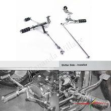 Papanda Motorcycle Chrome Steel Extended Forward Control Kit Footpegs Custom for Harley Sportster XL 883 1200 2007-2012