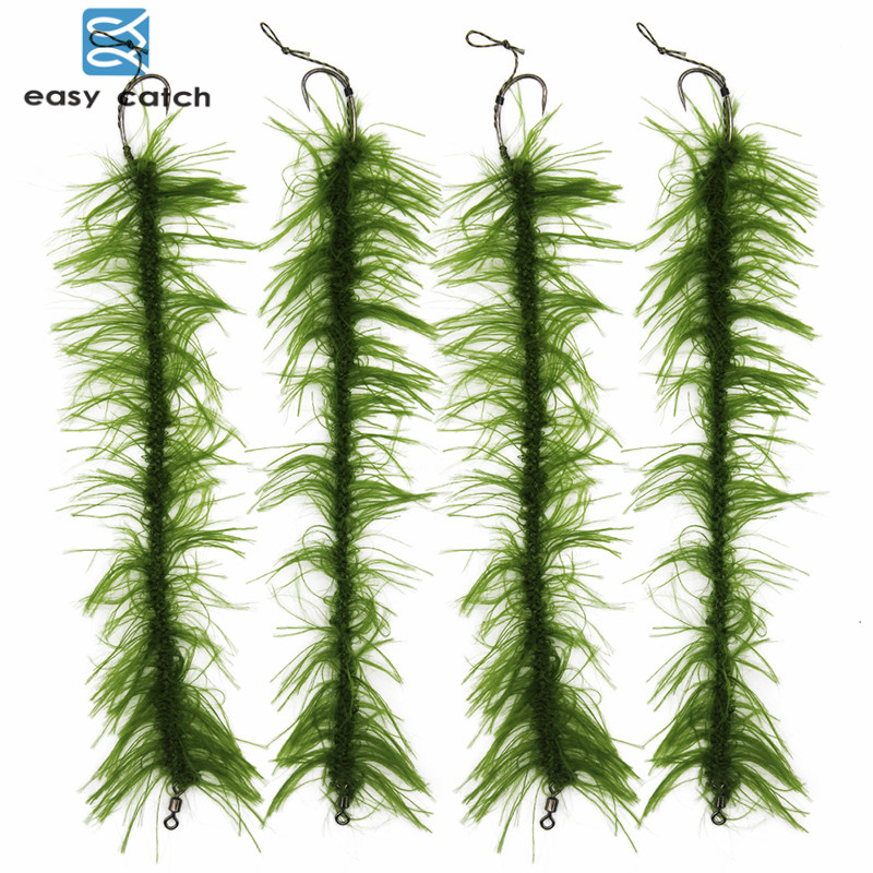 8 pz / set Weed Carp Fishing Hair Rigs intrecciato filo Barb Fishing Hook Boilies Carp Fishing Lure Accessori