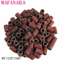 100pcs 80120180Nail Art Sanding Bands Grinding Head Polishing Nail Band Dedicated Sand