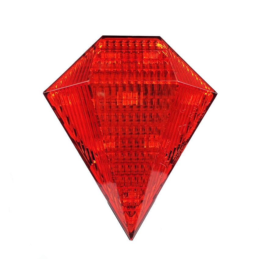 The New Listing Waterproof Rhombus Rechargeable Bicycle <font><b>Lamp</b></font> MTB Laser Tail Rear Bike Led Light Red Cycling Accessories