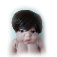Cool Brown Or Gold Doll Wigs For 23 Inch Reborn Baby Dolls High Temperature Wire Lifelike