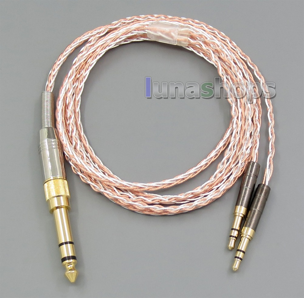 800 Wires Silver + OCC Alloy Headphone Cable For Focal Elear Final Audio Design Hope vi Denon AH-D600 Meze 99 Classics 800 wires soft silver occ alloy teflo aft earphone cable for ultimate ears ue tf10 sf3 sf5 5eb 5pro triplefi 15vm ln005407