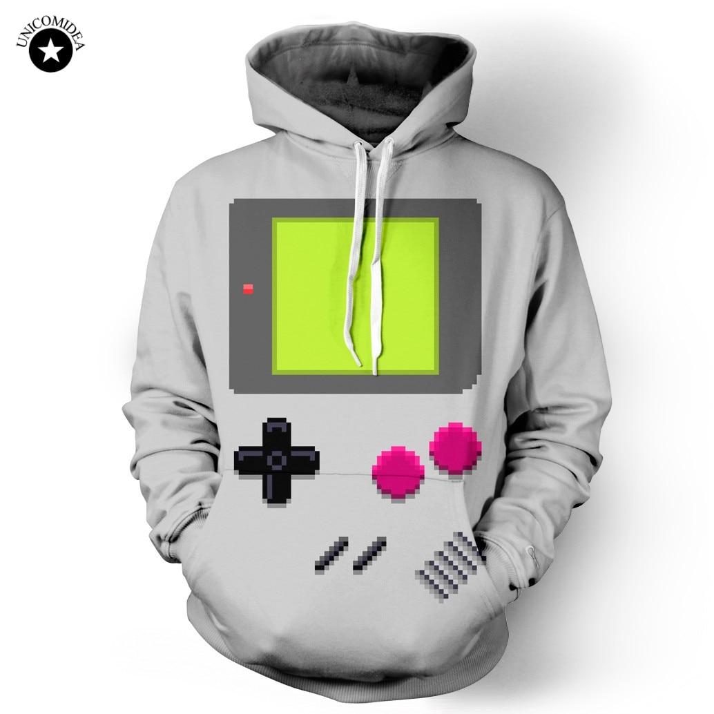 Unicomidea drôle à capuche Console de jeu imprimé 3d Sweatshirts manteau hommes haut pour femme vêtements à manches longues à capuche pull S-3XL