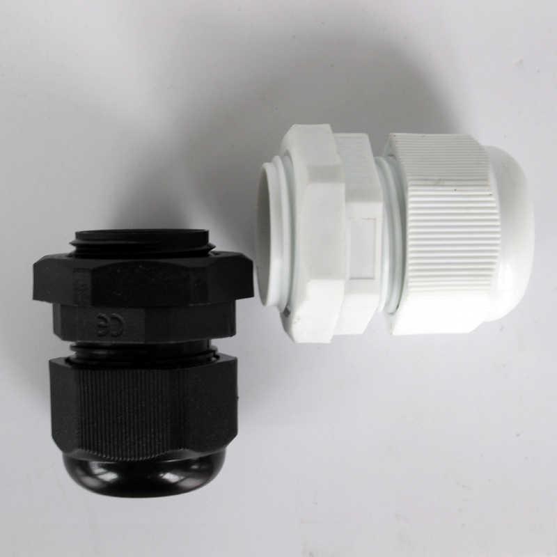 1 قطعة IP68 M12 عالي الجودة مقاوم للماء نايلون عُروةُ رَبْطِ الكَبْل البلاستيكي موصل مناسب ل 3-6.5 مللي متر