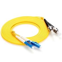 10pcs Fiber Optic Patch Cable LC/UPC-ST/UPC Singlemode Duplex 3.0mm PVC 3Meters optic jumper  lc-st