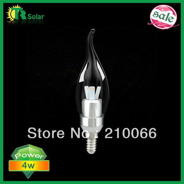 10pcs/lot Free Shipping- 220LM 3W Samsung Chip LED Candle Light  dimmable bulb E14 optional lamp base CE ROHS