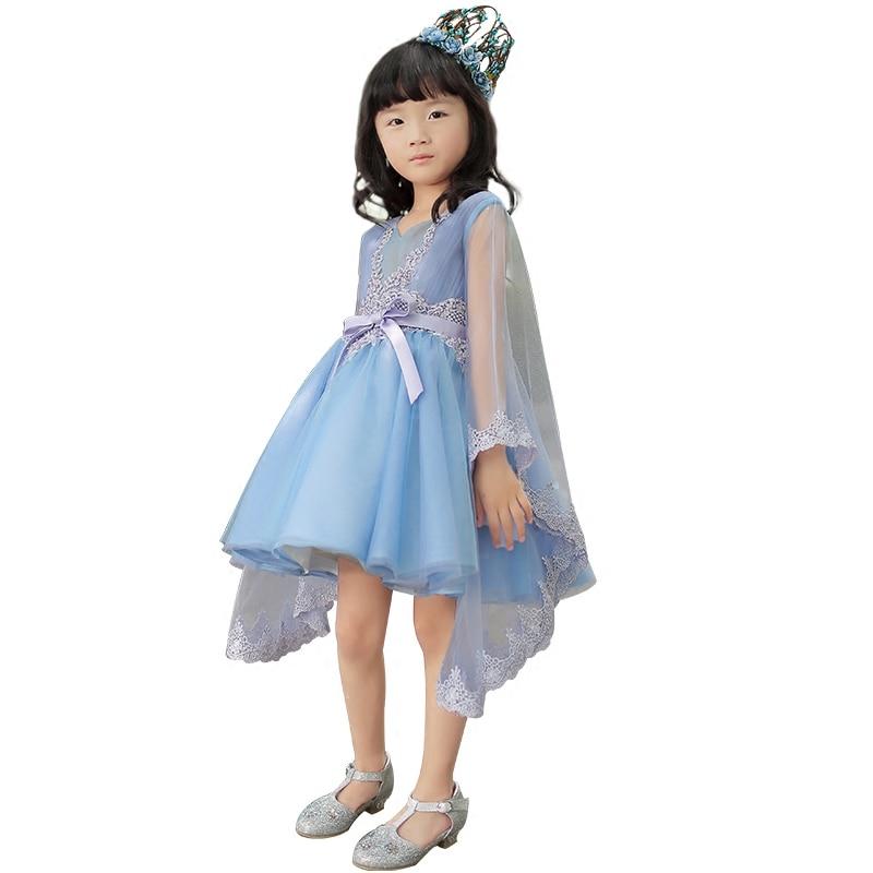 Mutter Tochter Kleider für Hochzeit Abend Lange Ballkleid Mädchen Formales Kleid Familie Passende Kleidung Blaue Fee Kostüm - 5