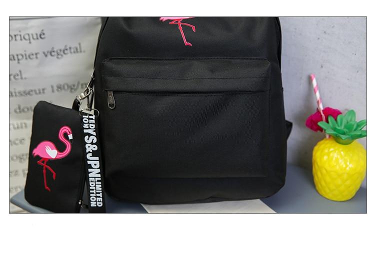 HTB1gDnNdi6guuRjy1Xdq6yAwpXaZ Backpacks Brand Women Simple Flamingo Printing Backpack For Teenage Girls Laptop School Bags Mochila 2019