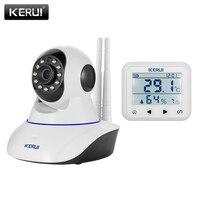 KERUI WiFi Wireless Android IOS Phone APP Video Audio Baby Sleep Monitor IP Camera with Temperature Humidity Monitoring