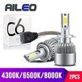 AILEO 7 укажите, какой цвет вам нужен h7 светодиодные H1 H3 H11 H8 H9 H16 HB3 HB4 9005 9006 HIR2 H27 автомобилей головной светильник лампочка C6 туман светильник 8000K ...