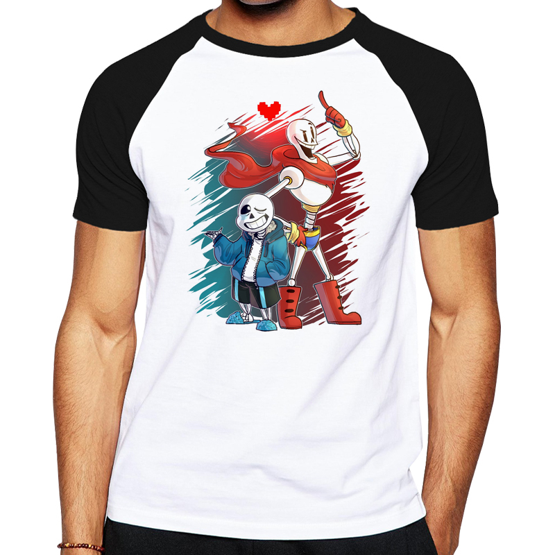 Game Undertale T-Shirt Undertale sans and papyrus Top Tees Ts