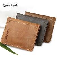 Cobbler Legend 2019 Slim Genuine Leather Men Wallets Cow Leather Fashion Coin Pocket Brand Design Men Purse Male Card ID Holder