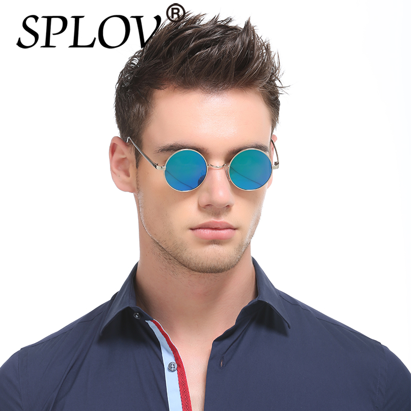 fashion style lower price with official images New Brand Designer Classic Polarized Round Sunglasses Men Small ...