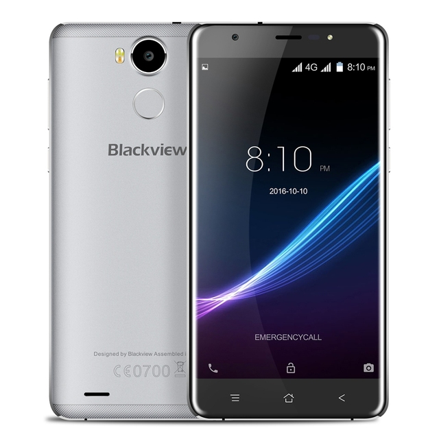 5.5 inch Blackview R6 Original 4G Phablet Smartphone Android 6.0 MTK6737T Quad Core 1.5GHz 3GB RAM + 32GB ROM 5MP + 13MP Cameras