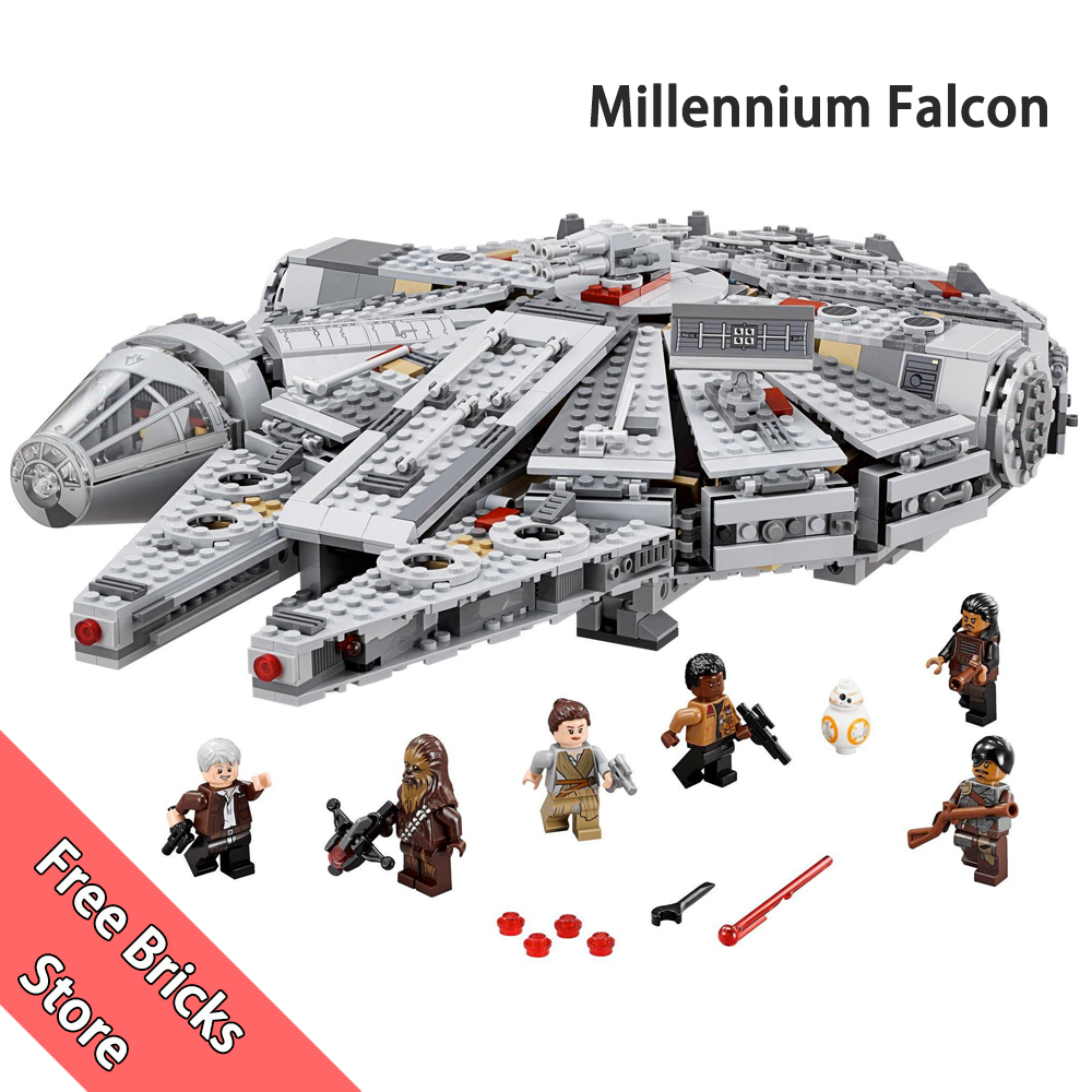1381 PCS 05007 Compatible With Star Wars 75105 Millennium Falcon Mini Minifigs Figure Set Model building blocks kids Toys игровой набор mattel star wars tie fighter vs millennium falcon 2 предмета cgw90