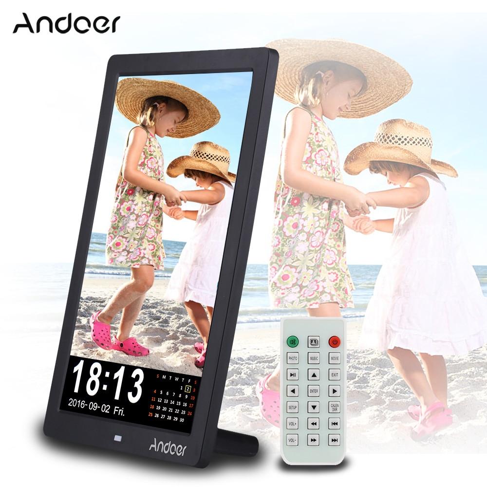 """Andoer 12"""" LED HD Digital Photo Frame 1280 * 800 Desktop"""