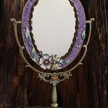 Стильный Настольный Ретро Макияж косметическое зеркало рельефный цветной рисунок Стрекоза металлический каркас украшение дома 334A