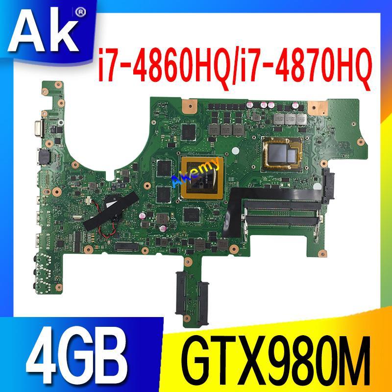 G751JY Motherboard For ASUS G751JY G751JT G751JL G751J G751 Laptop Motherboard Mainboard I7-4860HQ / I7-4870HQ GTX980M/4GB