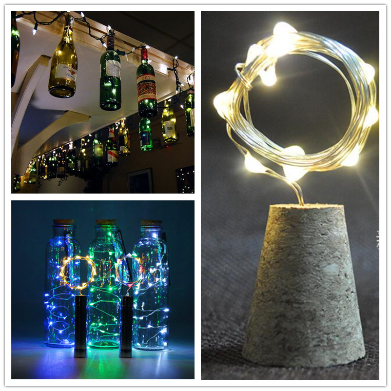 12LED Blink Wine Wooden Bottle Cork Stopper Fairy Lights LED Garland Christmas String Lights For Party Wedding Xmas Decoration