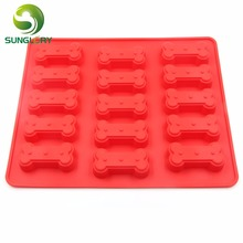 Kitchen DIY 15 Dog Bone Silicone Mold Cupcake Pan Baking Muffin Pan Chocolate Mold Fondant Cake Decorating Tools Pie Candy Tray alum pie pan 10in 200