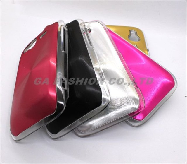 Free Shipping High Quality Black Color PC + Aluminum Hard Case Back Cover for HTC Wildfire S G13 A510e