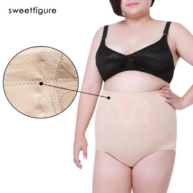 7f51c24be05 High Waist Panties Plus Size Panties Woman Cotton Pants Lingerie Briefs  Everyday Slimming Panties for women Underwear