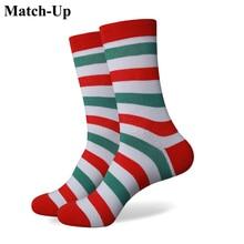 Match Up Stripes men s combed cotton socks brand man dress knit socks Wedding Gifts Free