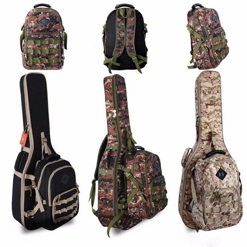 Imperméable à l'eau épaissir 40 41 42 Folk aplatir Balladry acier-ficelle acoustique classique guitare sac Case sac à dos accessoires Gig