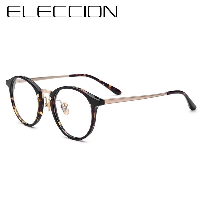 6fd277a101217 ELECCIÓN Rodada Óculos de Armação de Óculos de Acetato de Quadros Para Os  Homens 2018 Nova