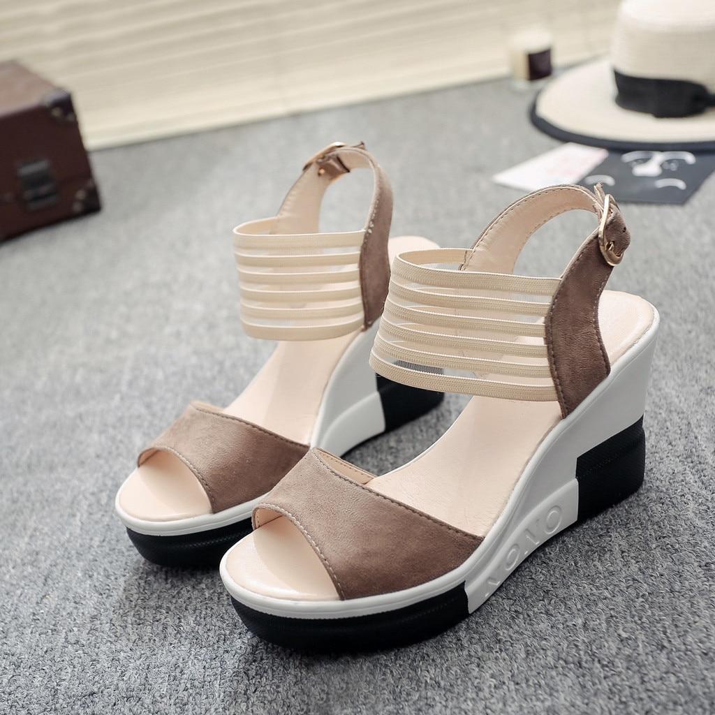 HTB1gDplatfvK1RjSspfq6zzXFXa8 new fashion Wedge women Shoes Casual Belt Buckle High Heel Shoes Fish Mouth Sandals 2019 luxury sandal women buty damskie