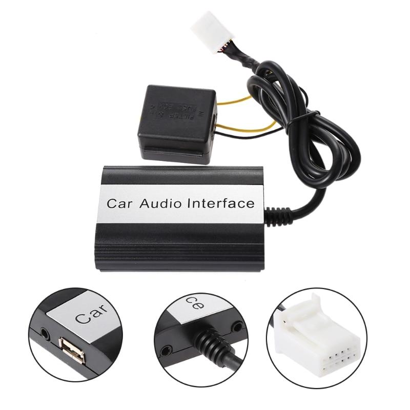 Nouvelle Interface d'adaptateur MP3 AUX Kits Bluetooth de voiture pour Toyota Lexus Scion 2003-2011 Support de livraison directe 12pin