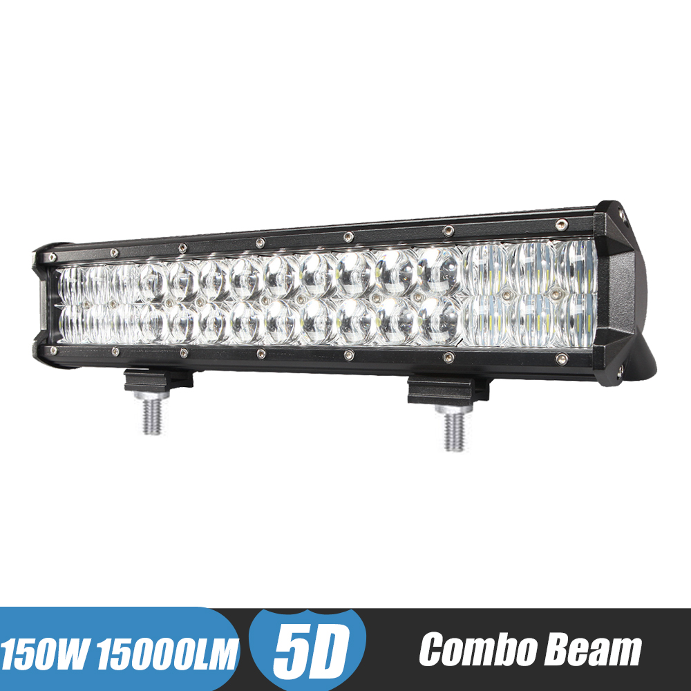 150W 15000lm Combo LED Light Bar 5D 15\'\' Inch Offroad LED Work Light ...