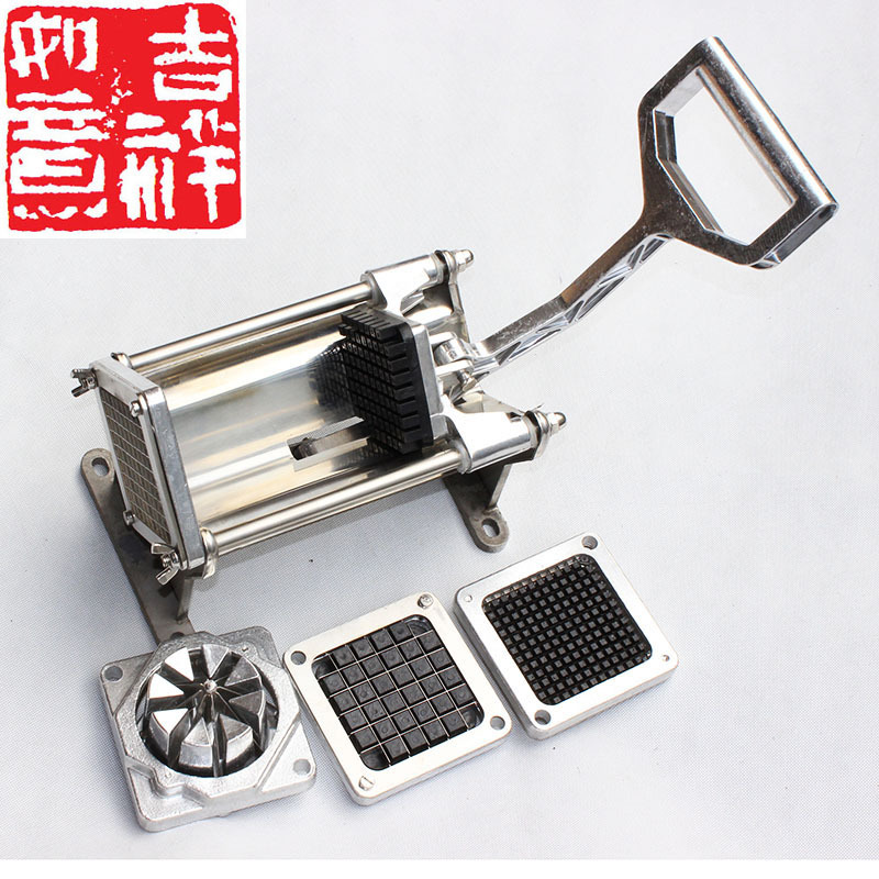 stainless steel french fry cutter maker slicer dicer potato heavy duty chips cutting machine - Vegetable Dicer