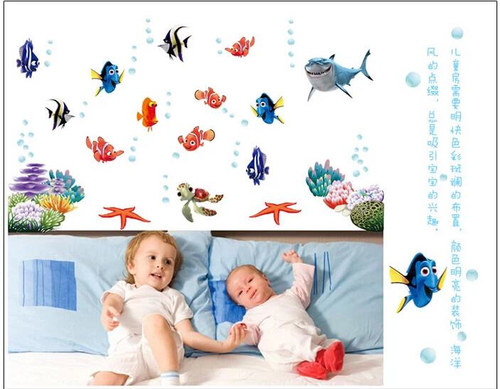 HTB1gDqDMpXXXXa7aXXXq6xXFXXXl - Wonderful Sea world colorful fish animals vinyl wall art window bathroom decor decoration wall stickers for nursery kids rooms