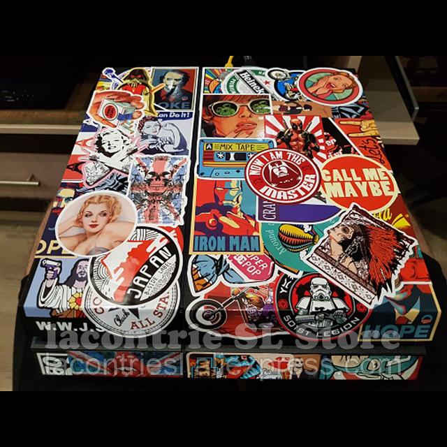 50 mini stickers vintage