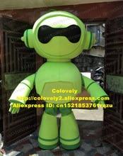 녹색 로봇 Automaton 마스코트 의상 성인 만화 캐릭터 복장 애정 표현 애니메이션 의상 zz5224