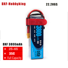 DXF Lipo Battery 22 2V 3800MAH 35C 6S MAX 60C T XT60 LiPo RC Battery For
