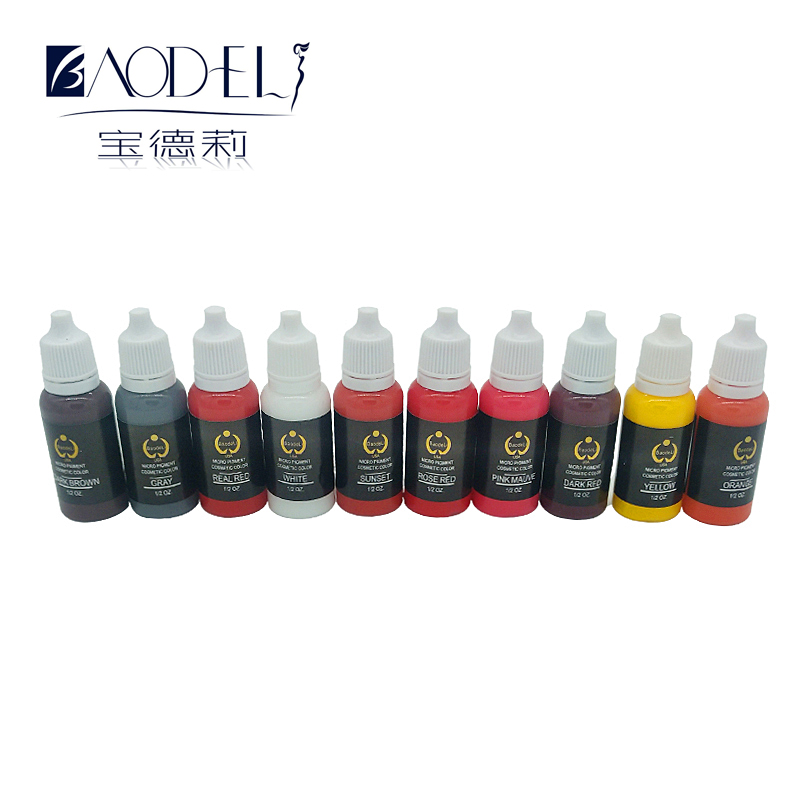 Free Shipping 10Pcs /Lot Biotouch Easy To Colored Pigment For Permanent Makeup With 50 package Plastic ring cup As a gift 10pcs lot irfp4468trpbf irfp4468pbf irfp4468 4468 to 247 free shipping