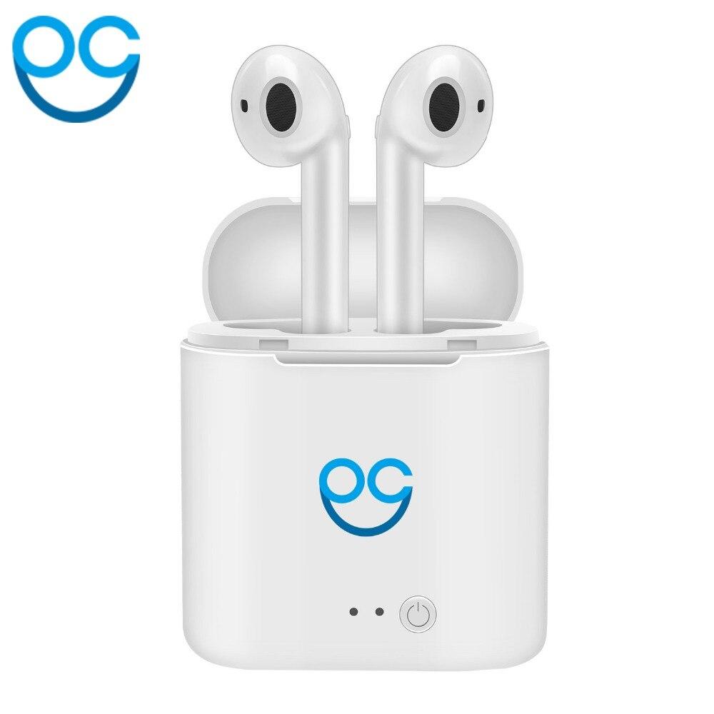 OGV I7S TWS auriculares Bluetooth inalámbrico auriculares Earpods auriculares estéreo para el Iphone Air Pod Android 6 7 8 X APPLE auriculares