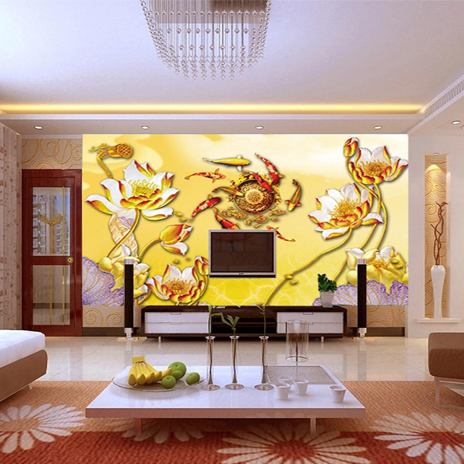 Luxury Koi Fish Wall Decor Wallpaper Mold - The Wall Art Decorations ...