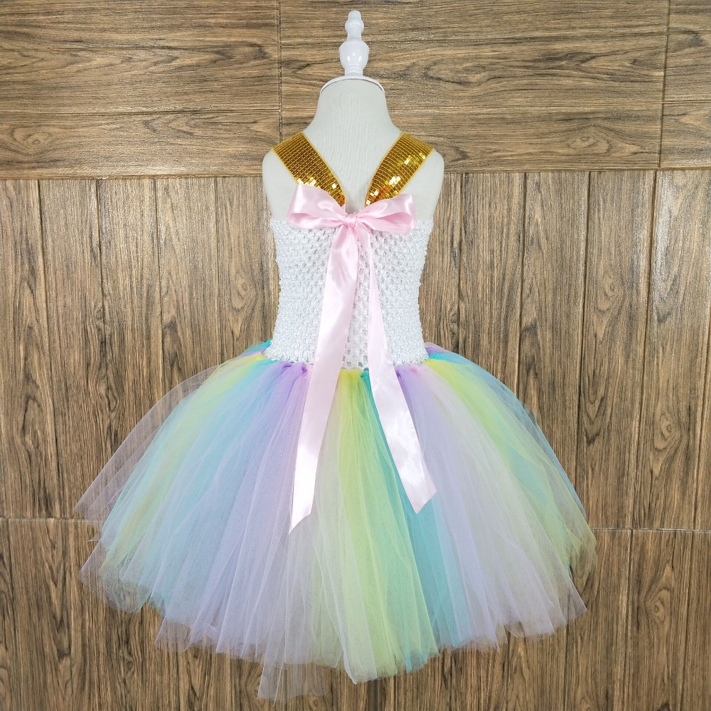 b936d51c9ea POSH DREAM Kids Girl Unicorn Dress for Cosplay Party Easter Color 1st Birthday  Party Tutu Dresses Children Cosplay Costume Set-in Dresses from Mother    Kids ...
