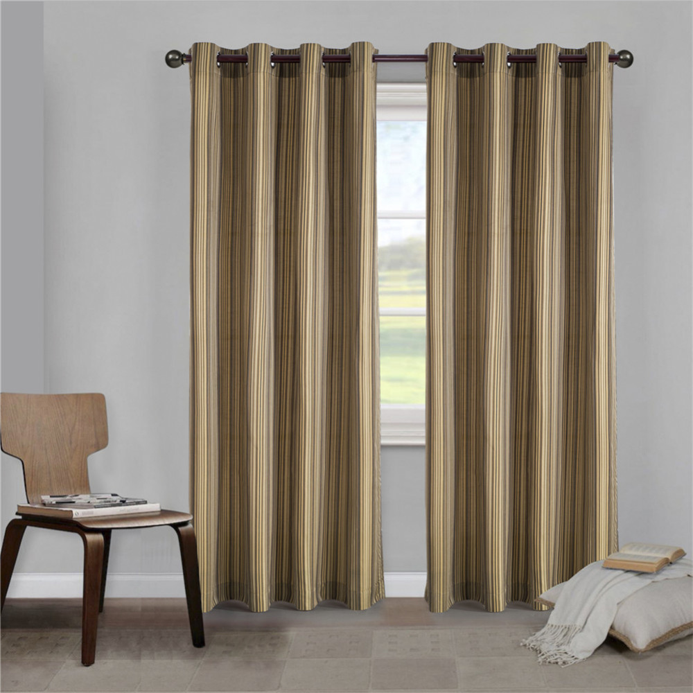 Sales For New Season 2017 Comforhome Stripe Faux Silk Window Curtain For Living Room 1 Panel