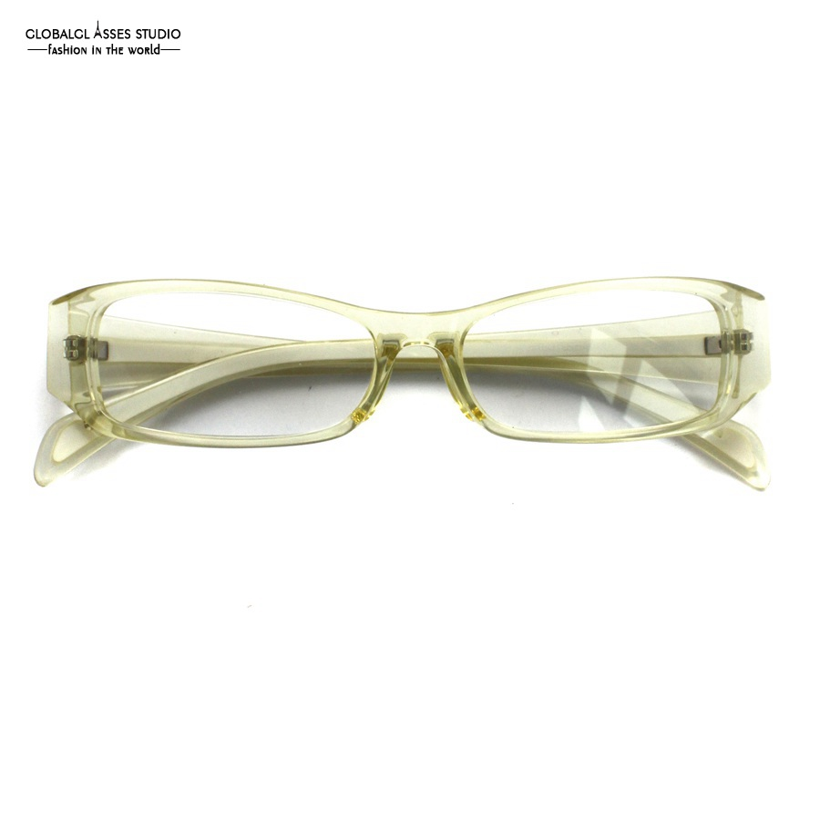 4167318537 Solid Rectangle Lens Acetate Glasses Frame Women Men Crystal Clear Color  Wide Temple Prescription Spectacle Frame F 1041-in Eyewear Frames from  Apparel ...