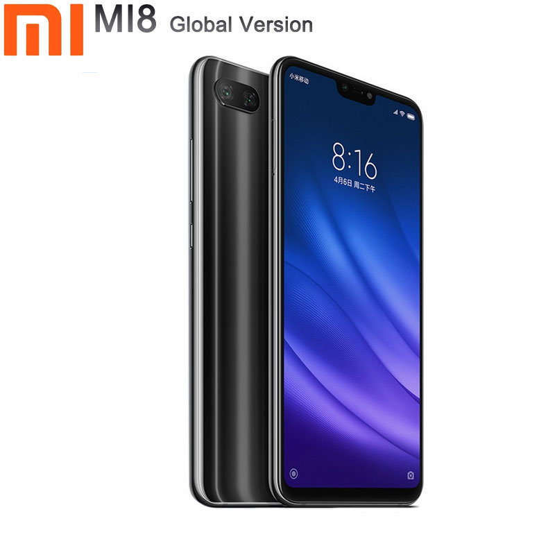 <font><b>xiaomi</b></font> <font><b>mi</b></font> <font><b>8</b></font> smartphone Global Version 6GB RAM 128GB ROM cellphone 6.39 inch Octa Core 24 MP Front Camera <font><b>mi</b></font> <font><b>8</b></font> <font><b>lite</b></font> phone image
