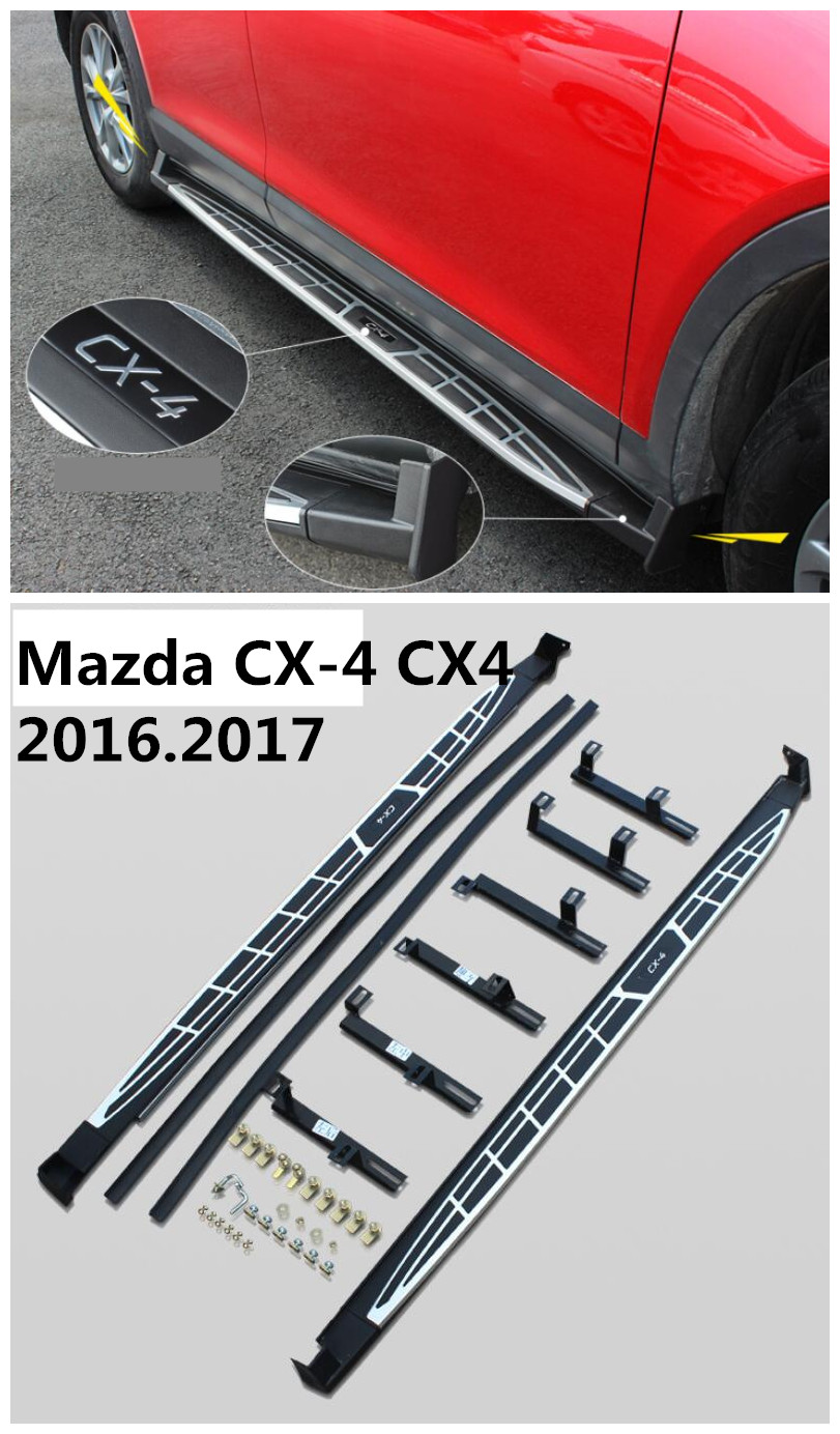 For Mazda CX-4 CX4 2016.2017 Car Running Boards Auto Side Step Bar Pedals High Quality Cayenne Section Nerf Bars