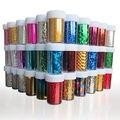 10 unids/lote Cielo Estrellas Nail Art Stickers Tips Wraps Foil Transferencia 50 patrón de Diseño de Decoración Fácil 4 cm * 120 cm