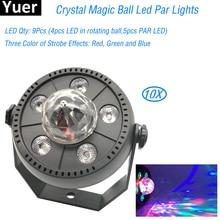10Pcs/Lot Par Light LED RGBW 30W Stage Lighting DMX 512 Club Disco Party Ballroom KTV Bar Wedding DJ Projector Spotlight